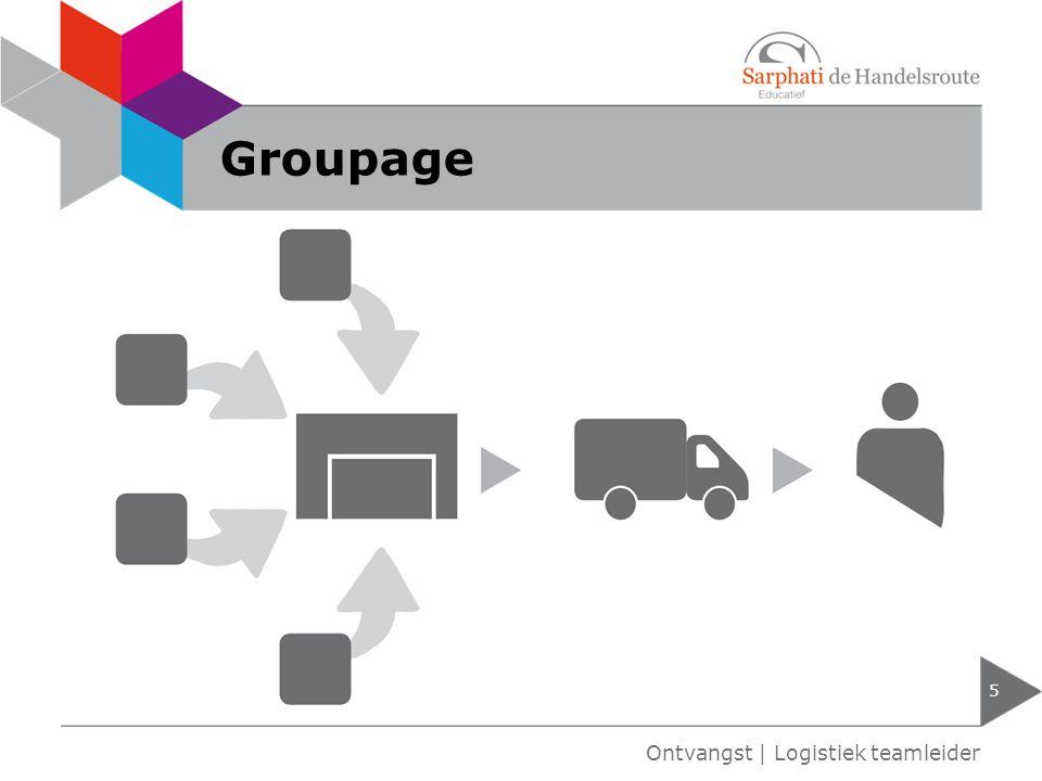 Groupage Ontvangst | Logistiek teamleider