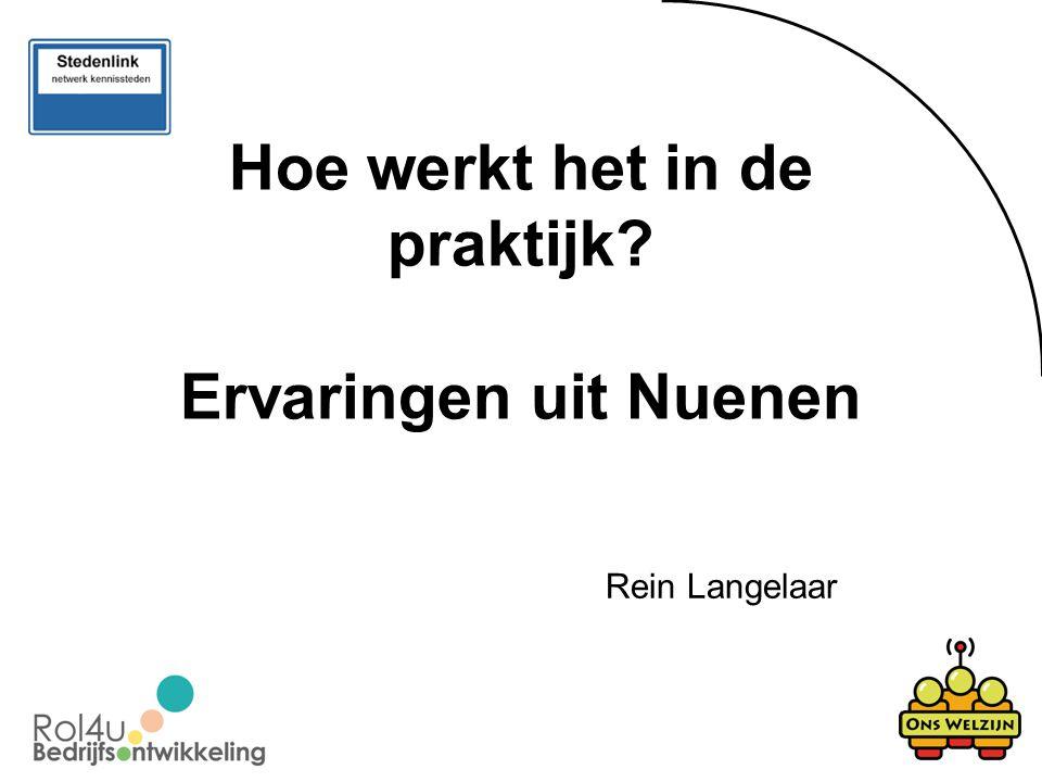 Hoe werkt het in de praktijk Ervaringen uit Nuenen