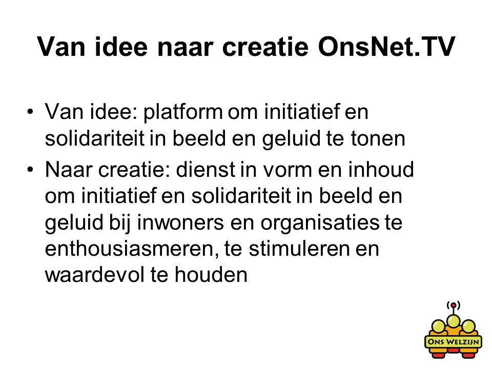 Van idee naar creatie OnsNet.TV