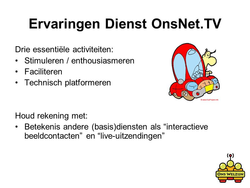 Ervaringen Dienst OnsNet.TV