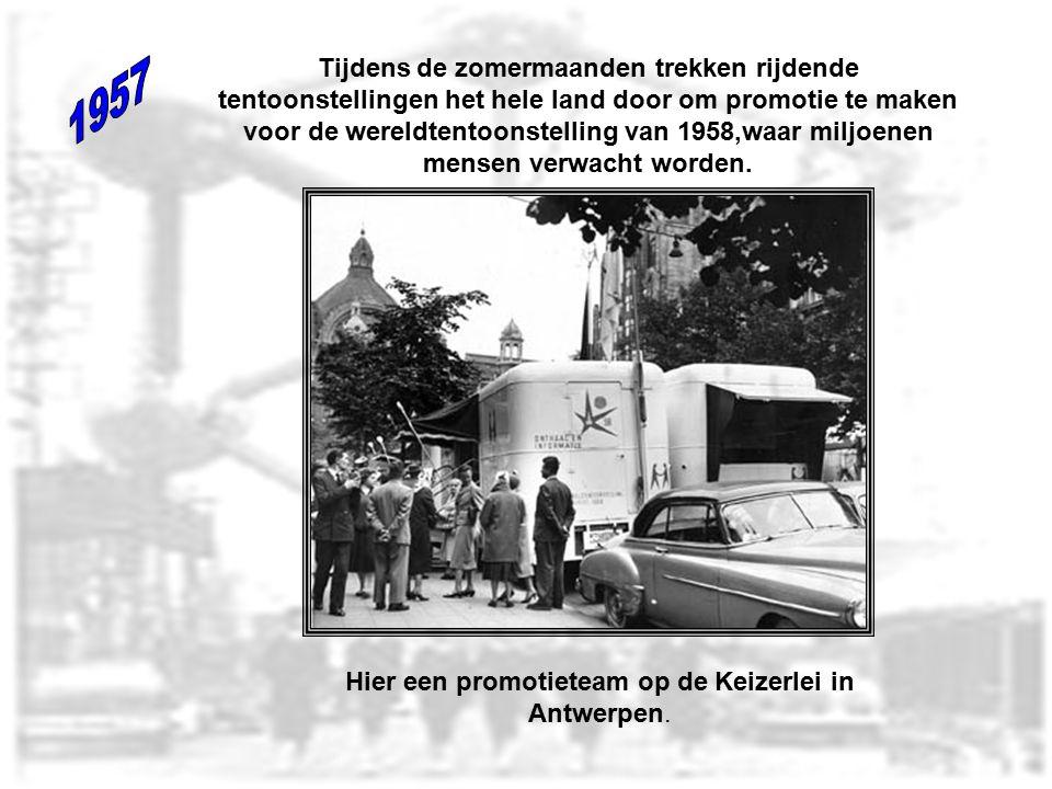 Hier een promotieteam op de Keizerlei in Antwerpen.