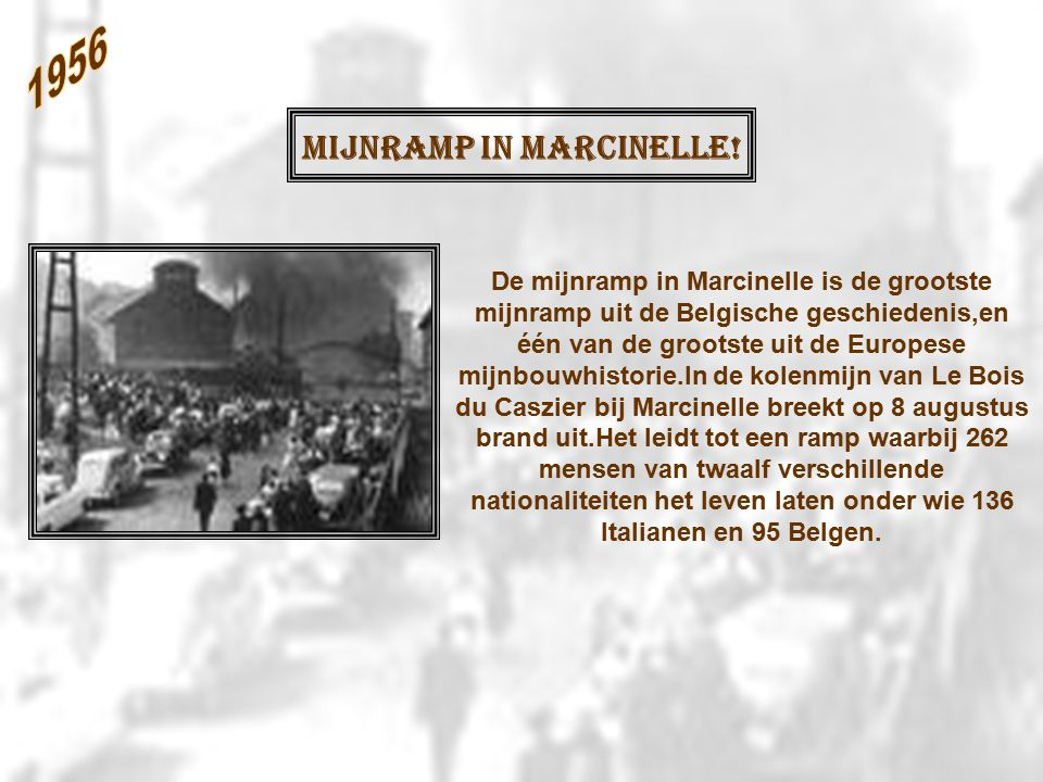 Mijnramp in Marcinelle!