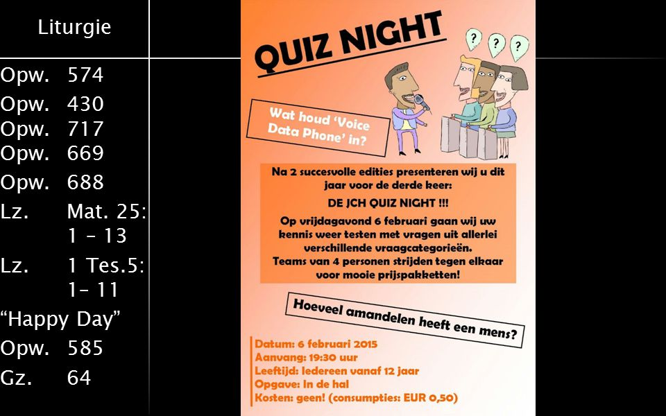 JCH-Quiz night