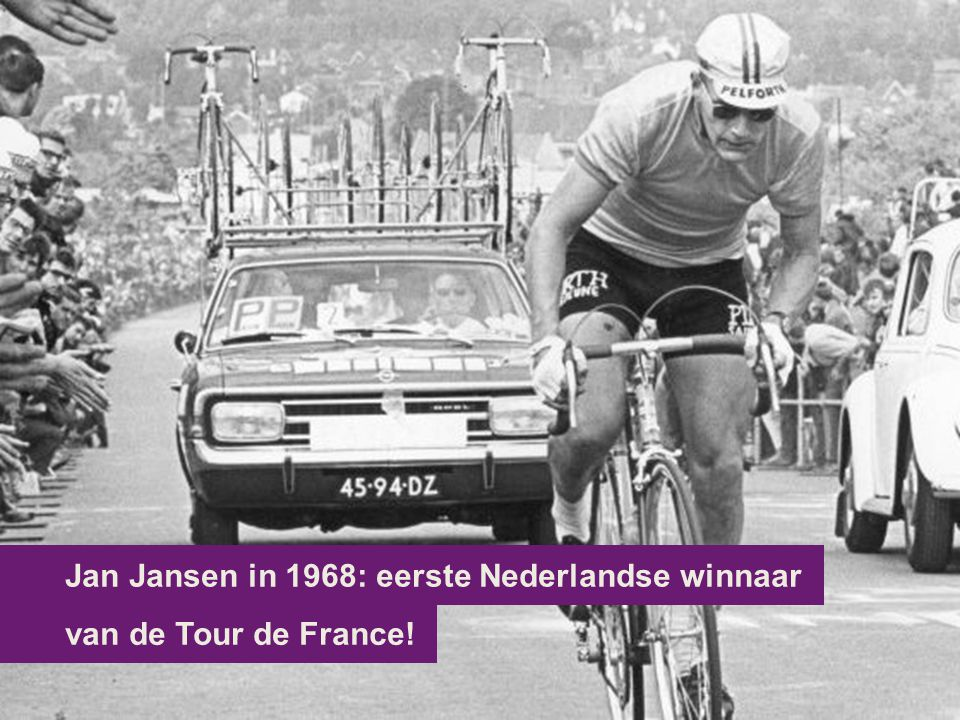 Jan Jansen in 1968: eerste Nederlandse winnaar