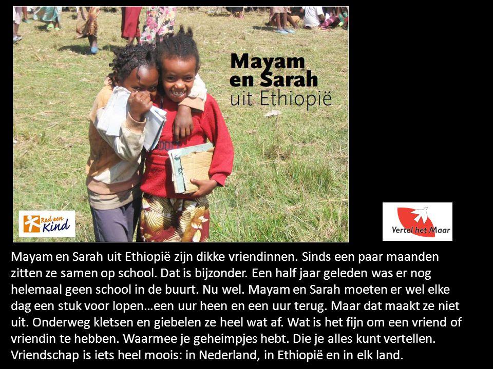 Mayam en Sarah uit Ethiopië zijn dikke vriendinnen