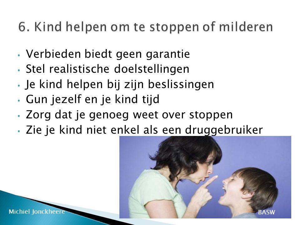 6. Kind helpen om te stoppen of milderen