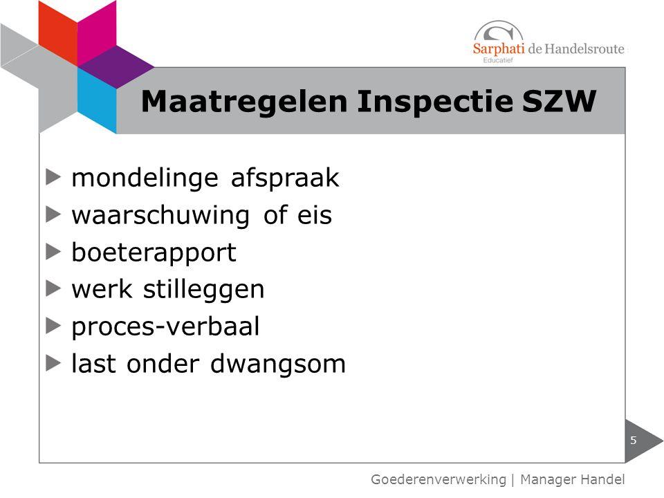 Maatregelen Inspectie SZW