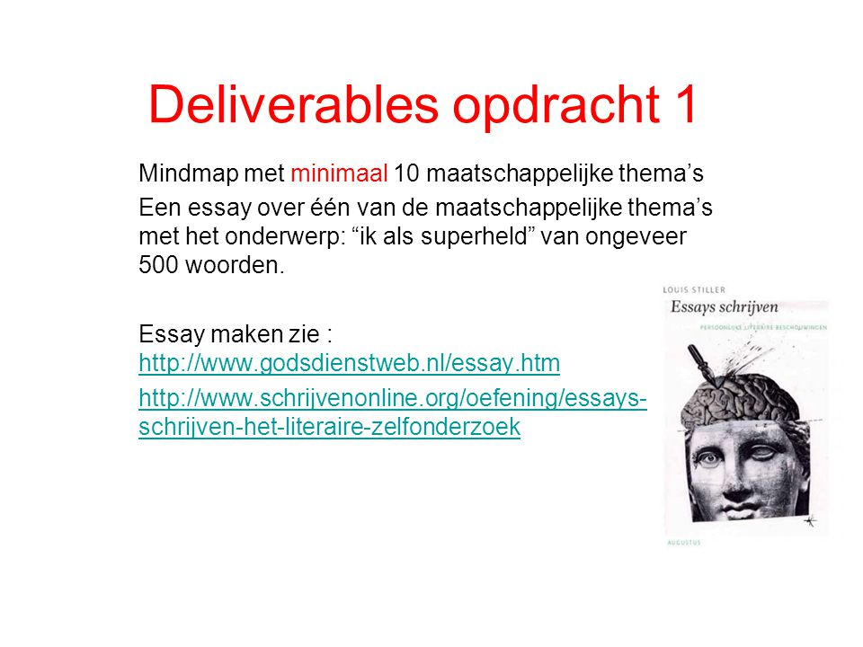 Deliverables opdracht 1