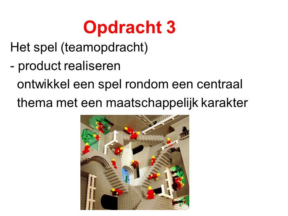 Opdracht 3 Het spel (teamopdracht) - product realiseren