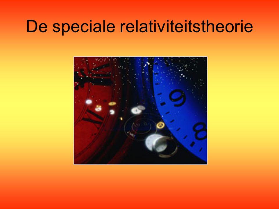 De speciale relativiteitstheorie