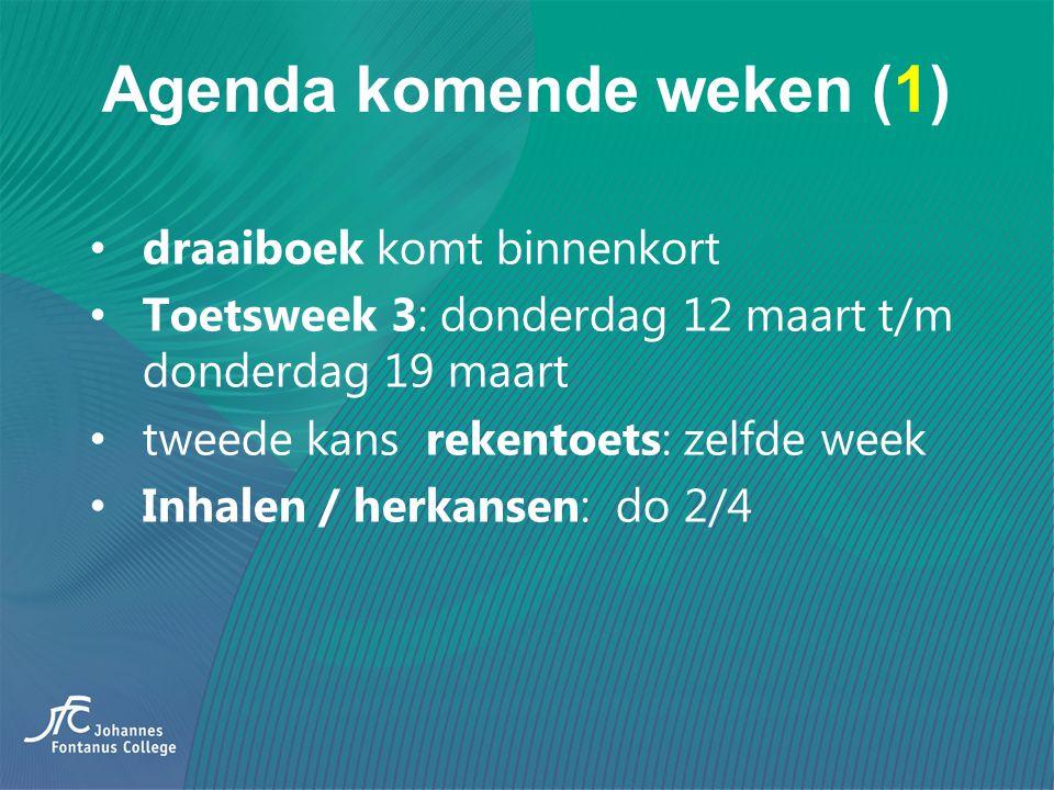 Agenda komende weken (1)