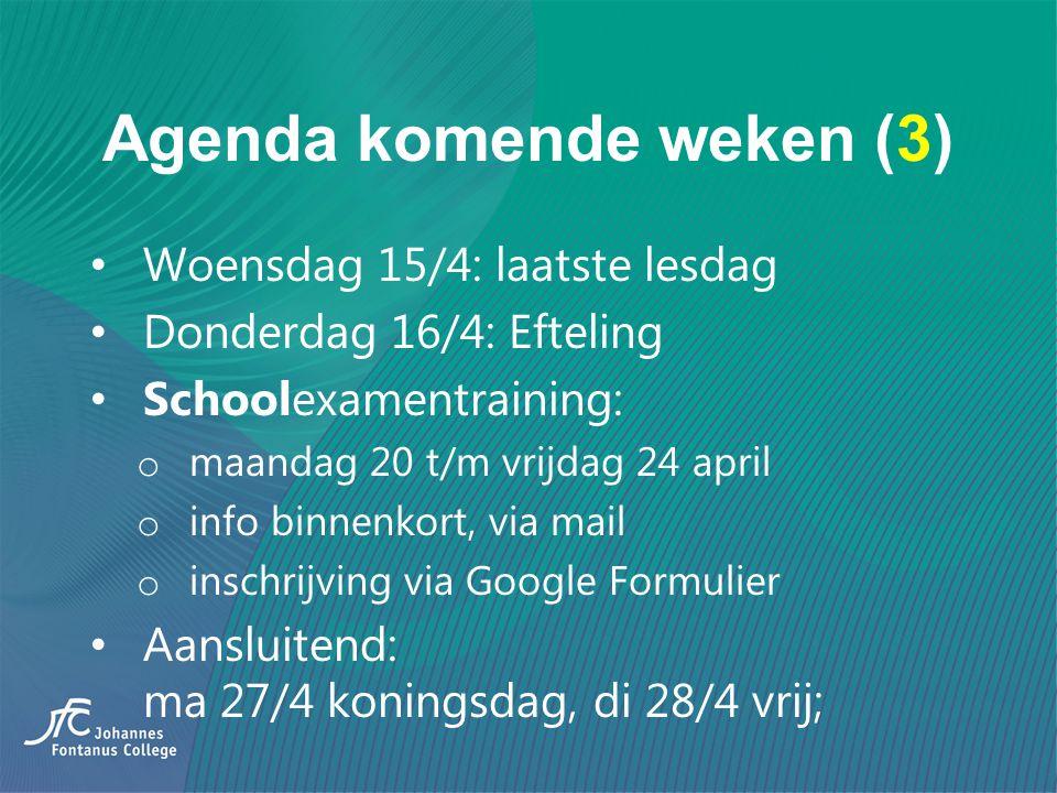 Agenda komende weken (3)