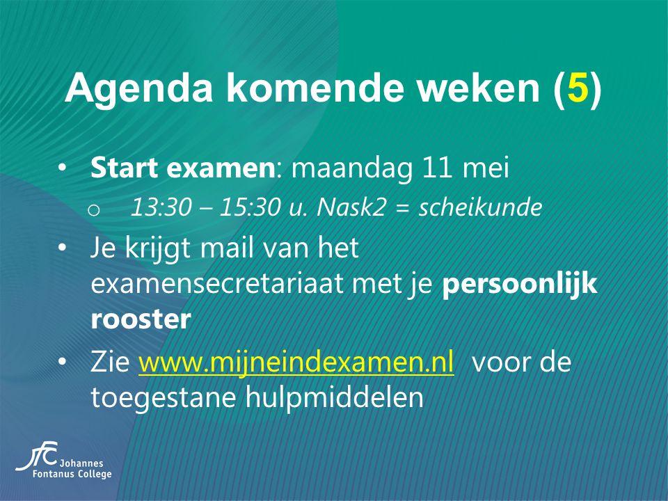 Agenda komende weken (5)