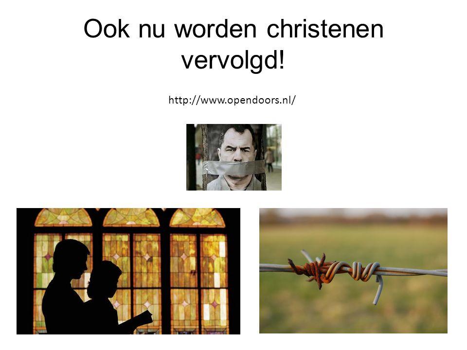 Ook nu worden christenen vervolgd!