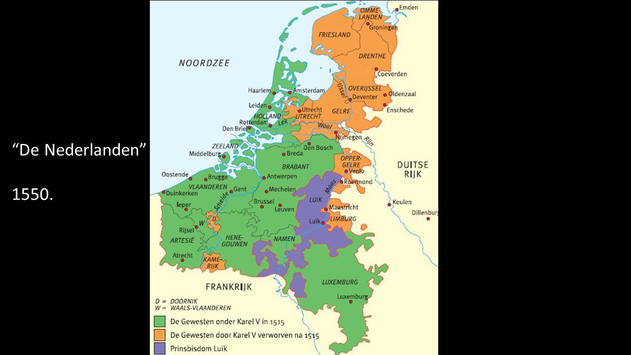 De Nederlanden 1550.