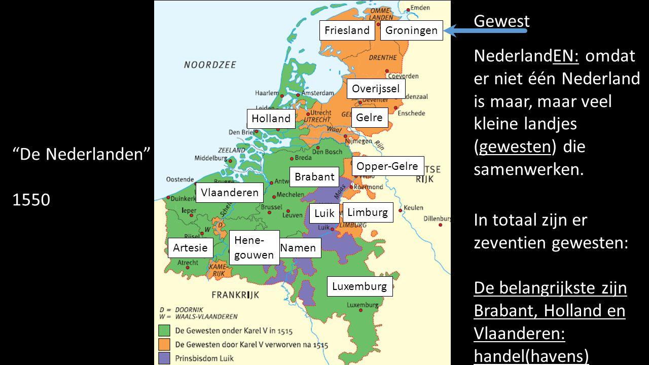 In totaal zijn er zeventien gewesten: