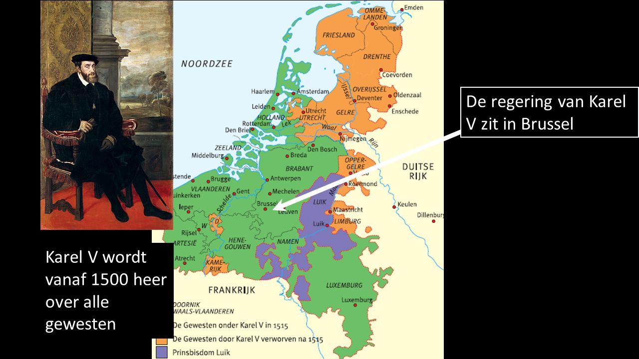 De regering van Karel V zit in Brussel