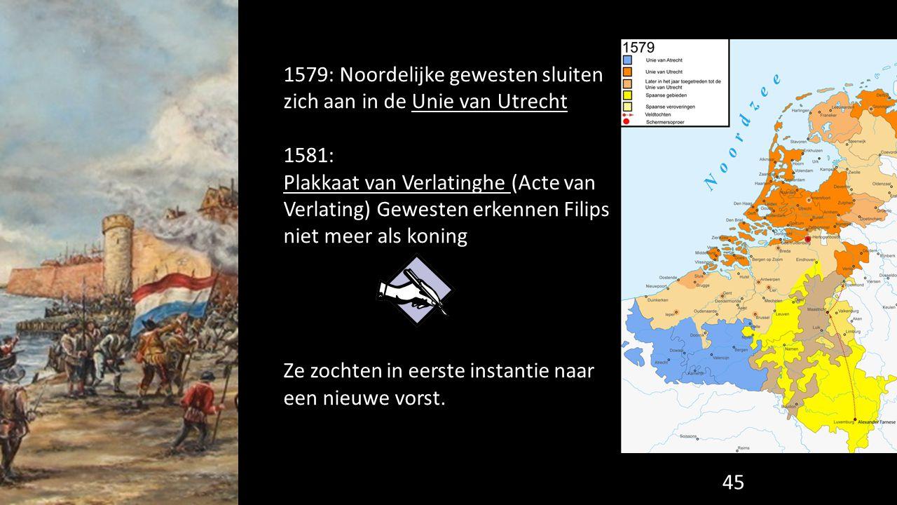 1579: Noordelijke gewesten sluiten zich aan in de Unie van Utrecht