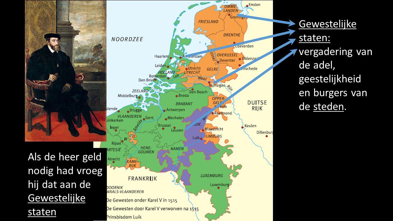 Gewestelijke staten: vergadering van de adel, geestelijkheid en burgers van de steden.