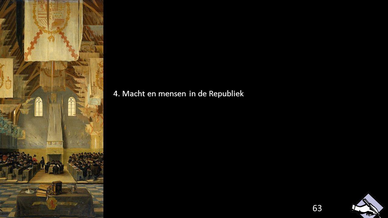 4. Macht en mensen in de Republiek