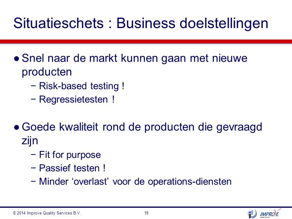 Situatieschets : Business doelstellingen