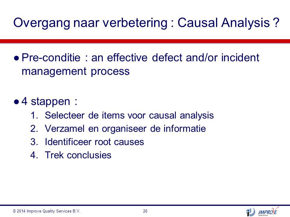 Overgang naar verbetering : Causal Analysis