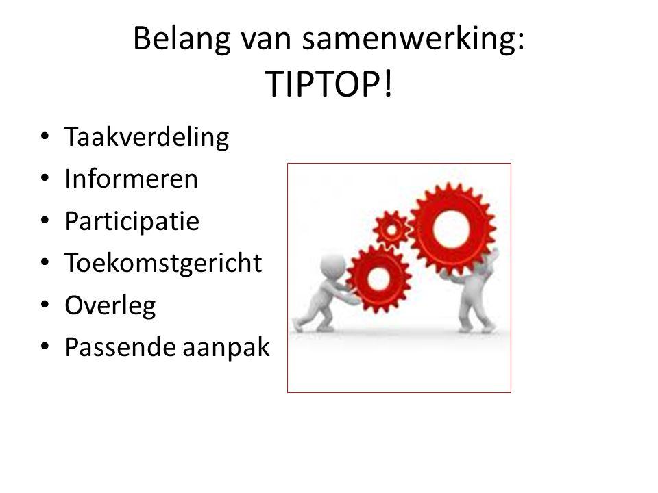 Belang van samenwerking: TIPTOP!