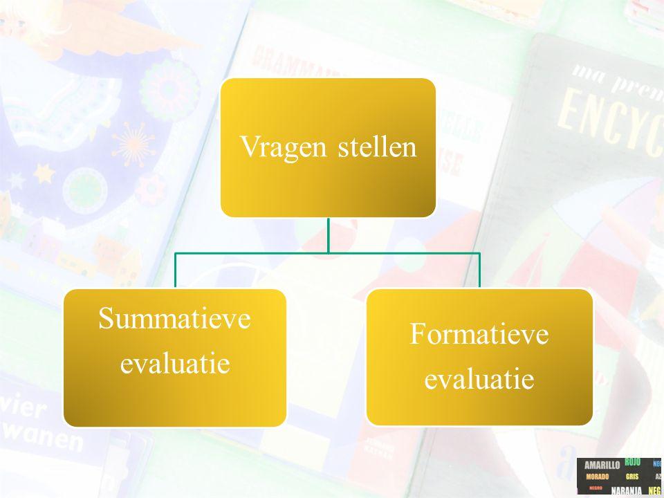 Vragen stellen Summatieve evaluatie Formatieve