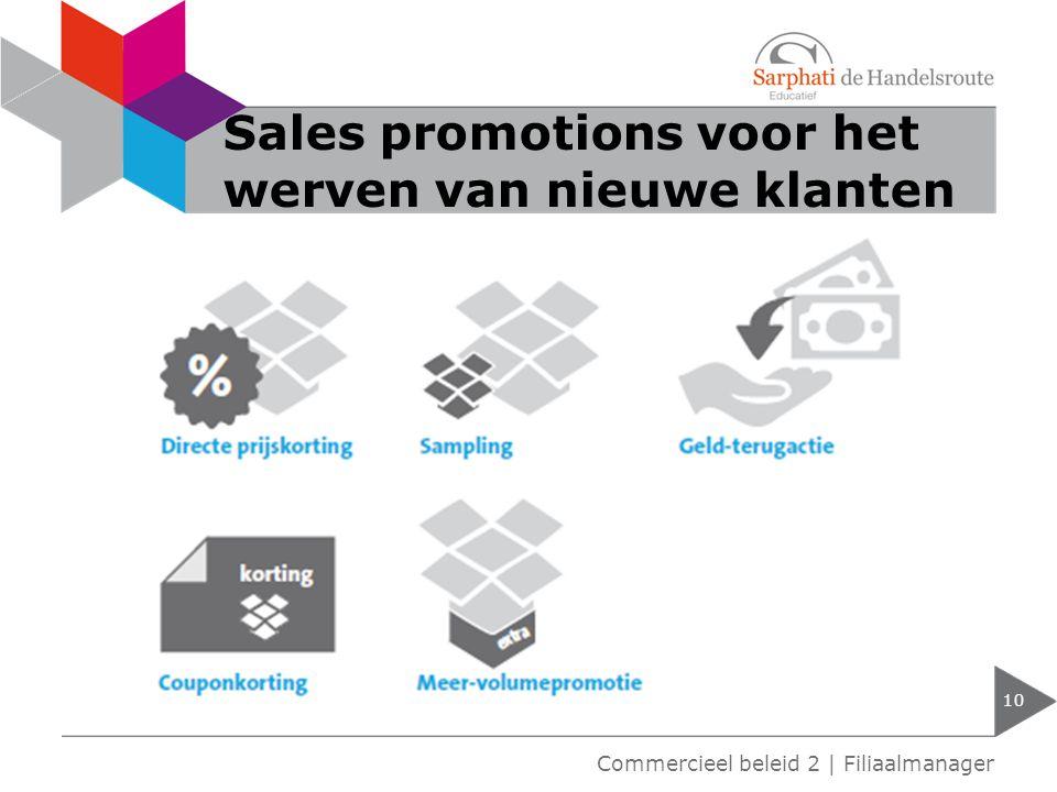 Sales promotions voor het werven van nieuwe klanten