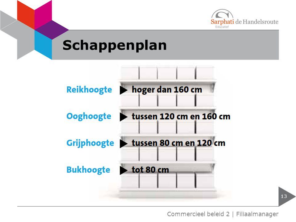 Schappenplan Commercieel beleid 2 | Filiaalmanager