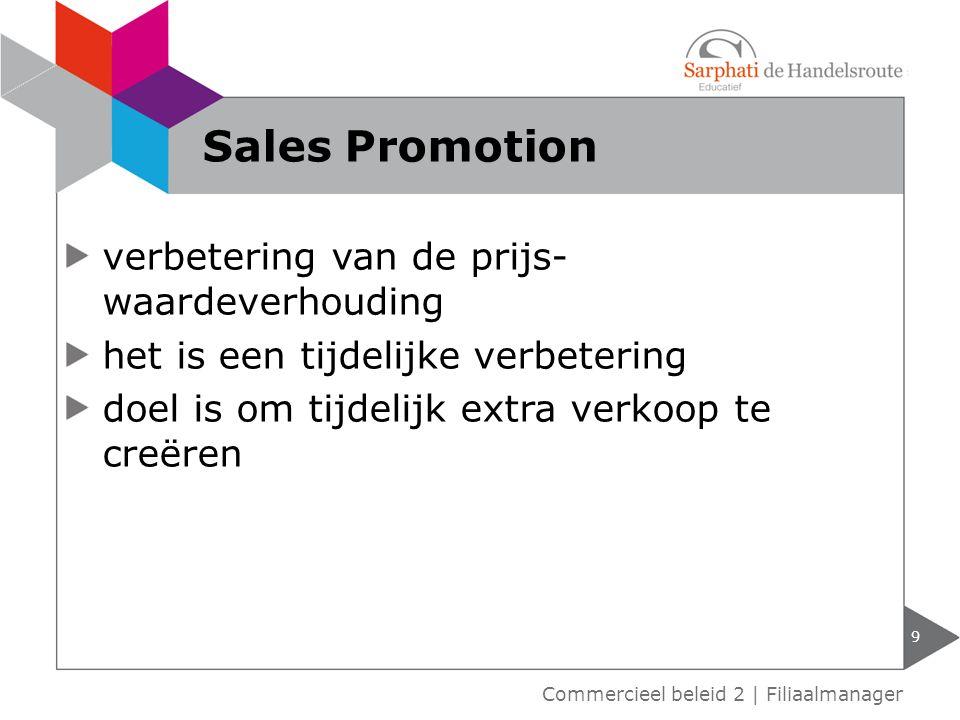 Sales Promotion verbetering van de prijs-waardeverhouding