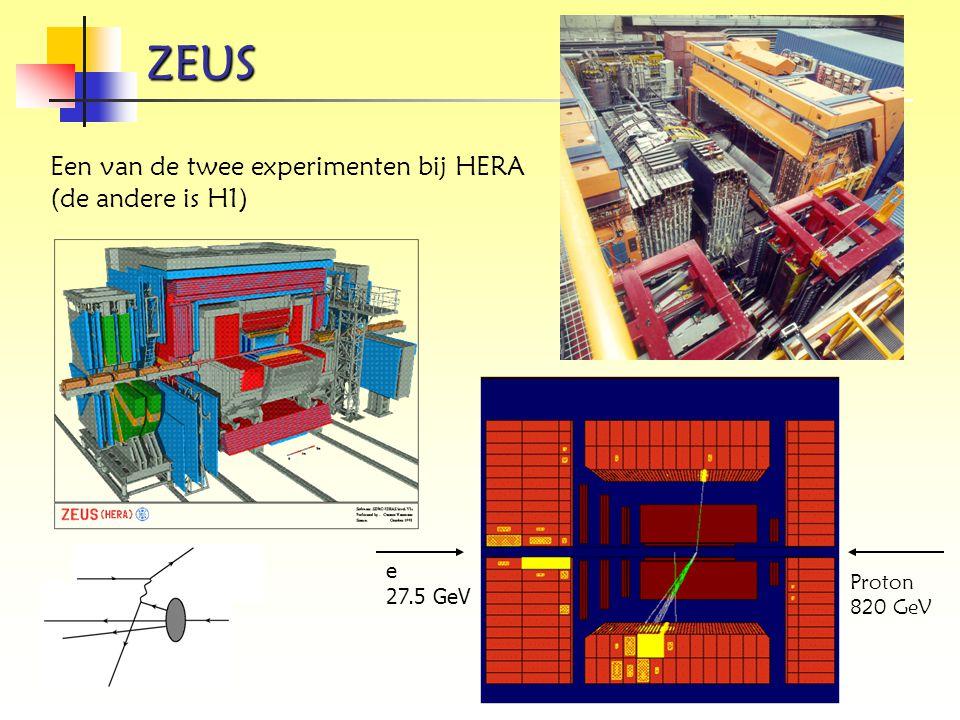 ZEUS Een van de twee experimenten bij HERA (de andere is H1) e