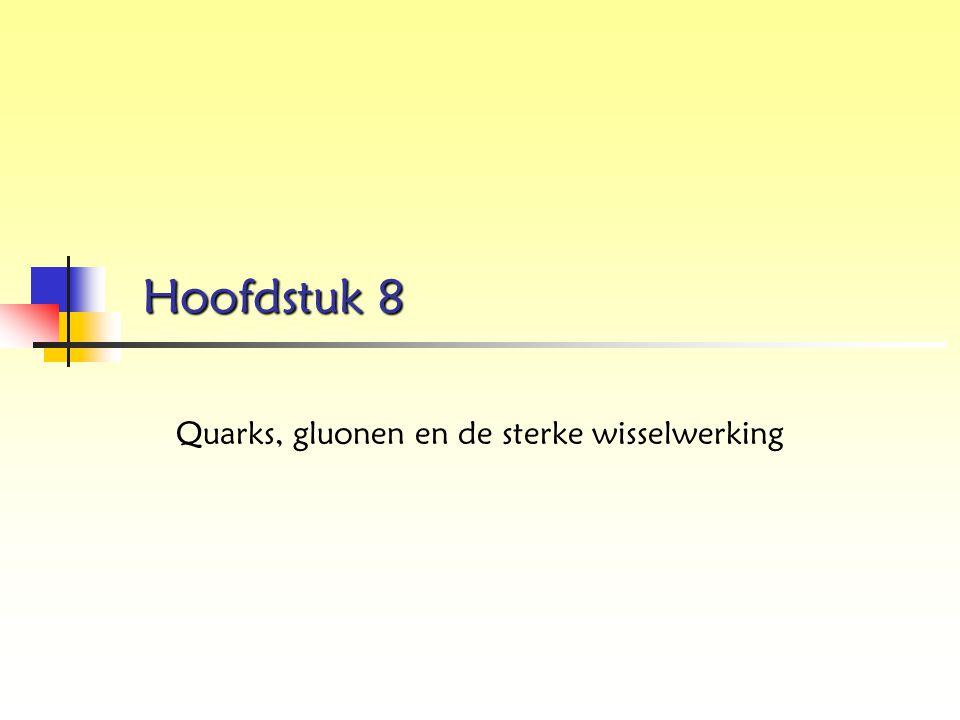 Quarks, gluonen en de sterke wisselwerking
