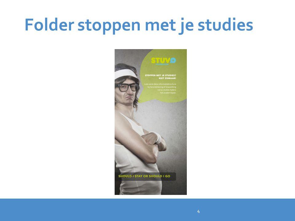Folder stoppen met je studies
