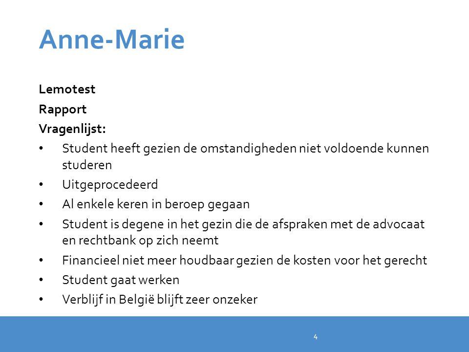 Anne-Marie Lemotest Rapport Vragenlijst: