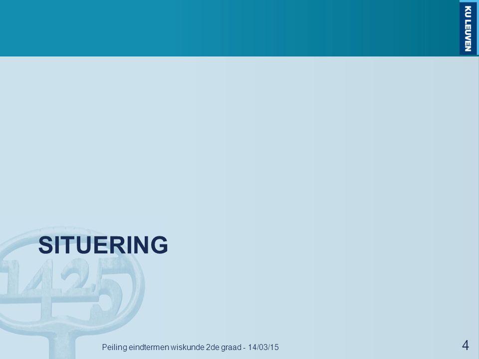 Peiling eindtermen wiskunde 2de graad - 14/03/15