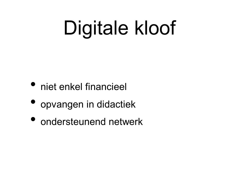 Digitale kloof niet enkel financieel opvangen in didactiek