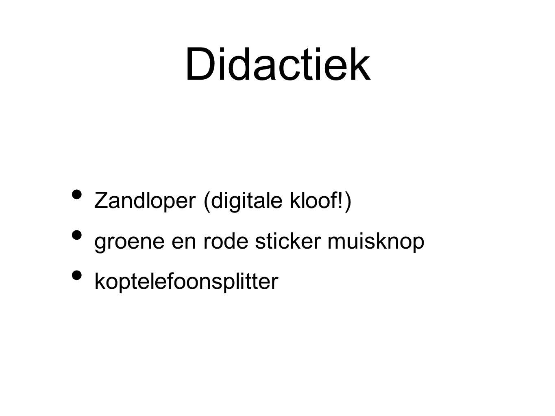 Didactiek Zandloper (digitale kloof!) groene en rode sticker muisknop