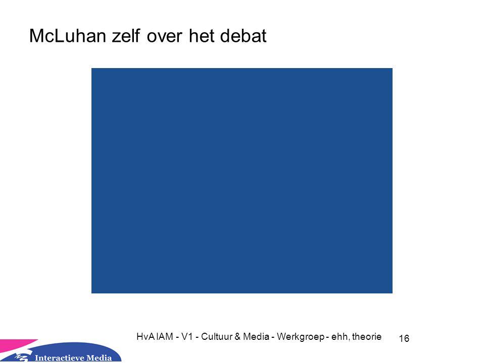 McLuhan zelf over het debat