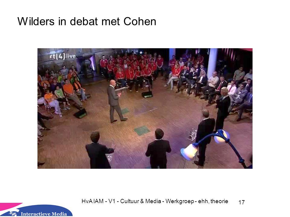 Wilders in debat met Cohen