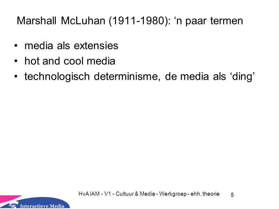Marshall McLuhan (1911-1980): 'n paar termen