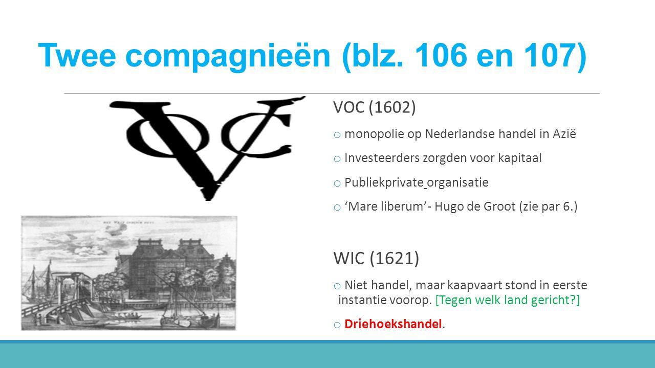 Twee compagnieën (blz. 106 en 107)