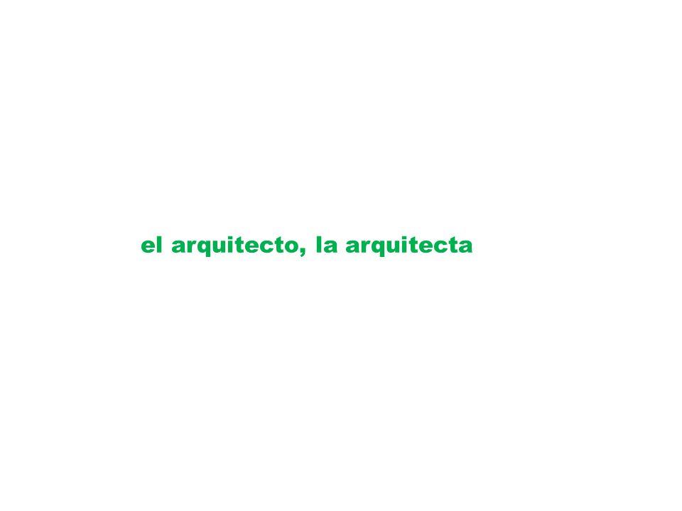el arquitecto, la arquitecta