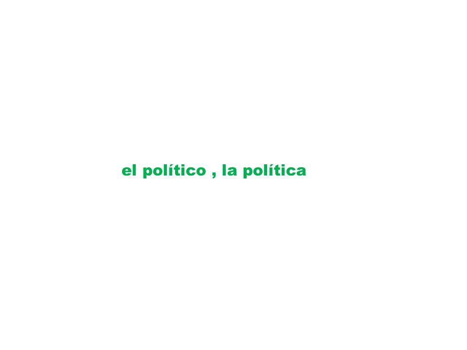 el político , la política