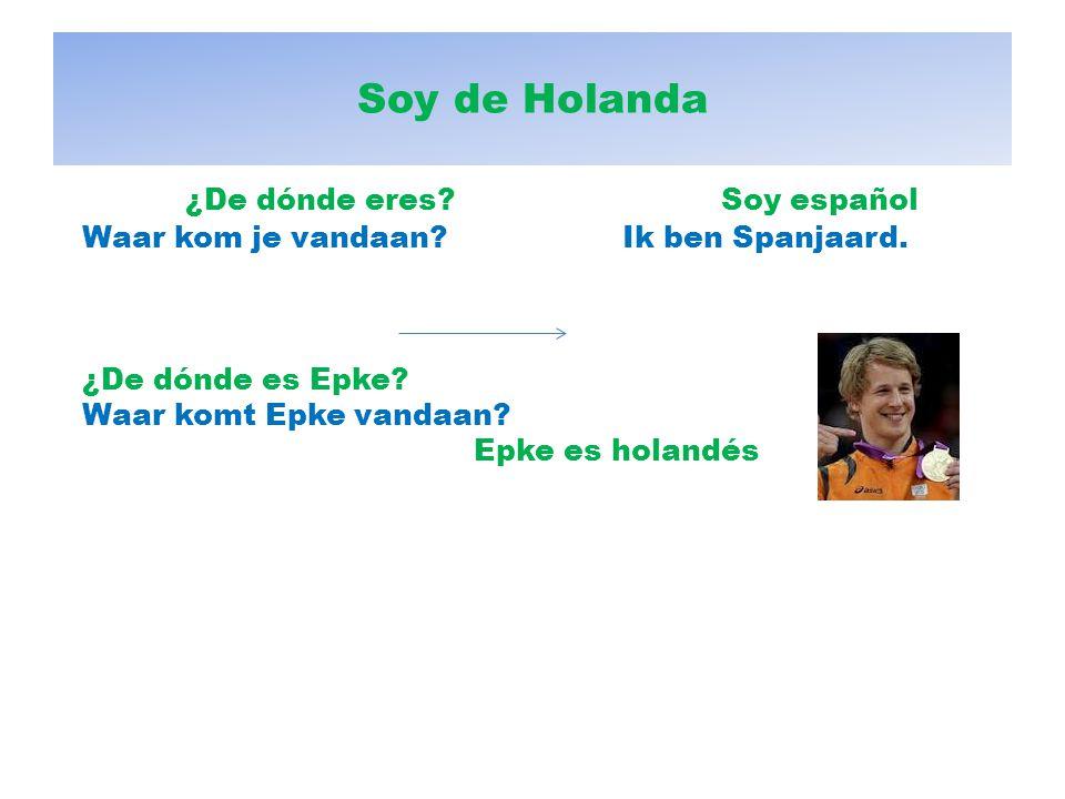 ¿De dónde eres Soy español