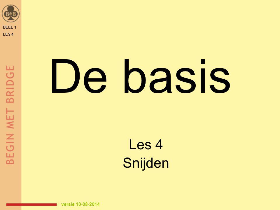 DEEL 1 LES 4 De basis Les 4 Snijden versie 10-08-2014