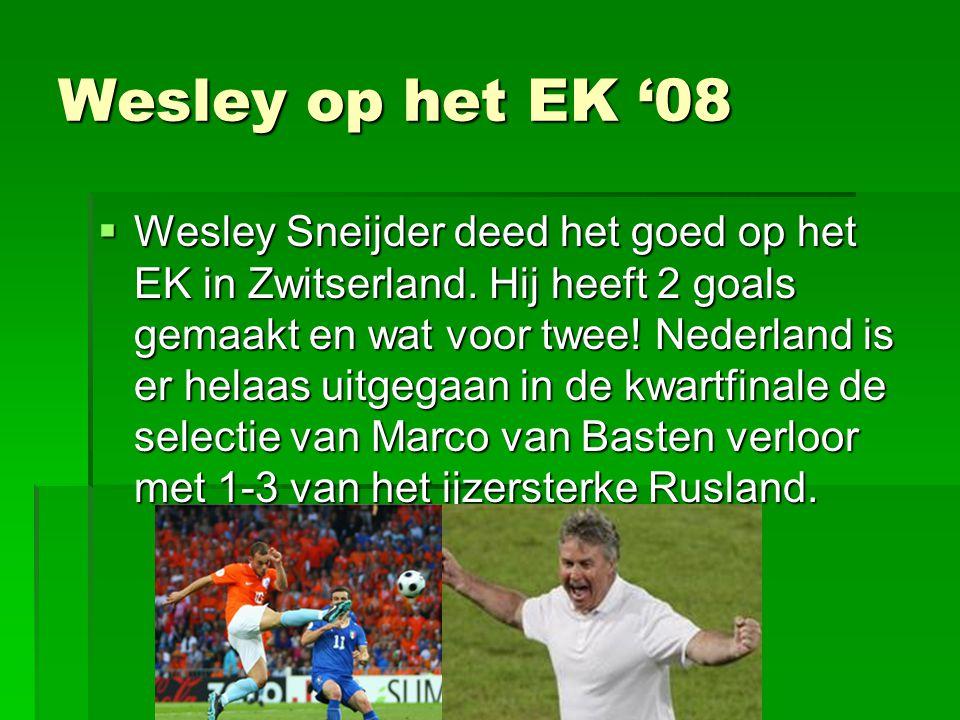 Wesley op het EK '08