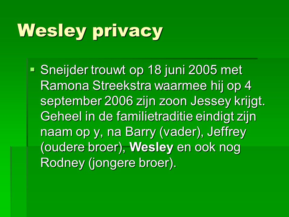 Wesley privacy