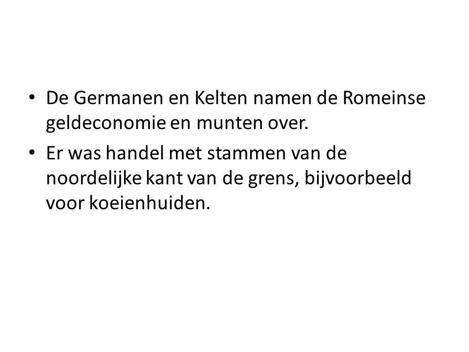 De Germanen en Kelten namen de Romeinse geldeconomie en munten over.