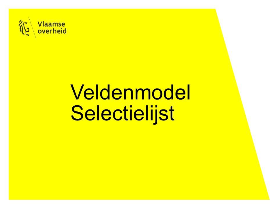 Veldenmodel Selectielijst